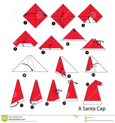 how to make origami santa step by step how to make origami santa cap
