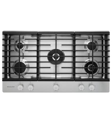 Kitchen Aid Mixer kitchenaid 174 36 quot 5 burner gas cooktop with griddle