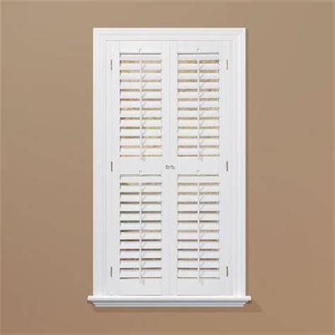 wooden shutters interior home depot homebasics plantation faux wood white interior shutter