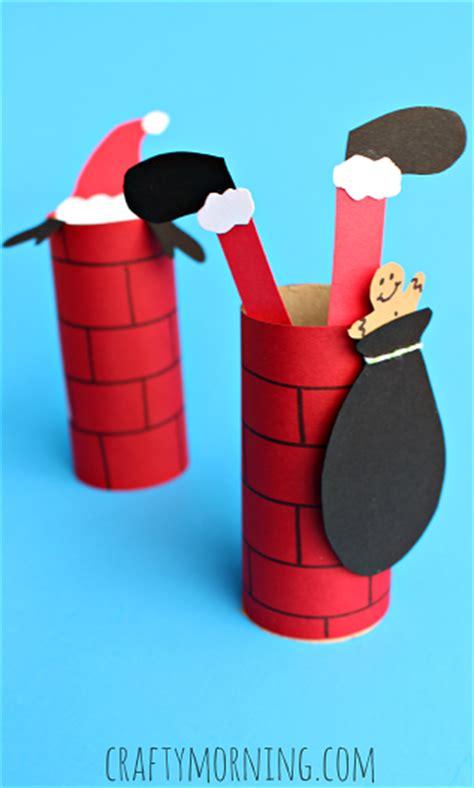 toilet paper santa craft santa going a toilet paper roll chimney craft