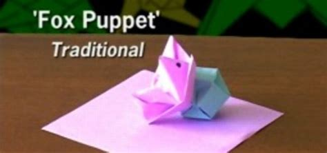origami fox puppet how to fold an origami fox puppet 171 origami wonderhowto