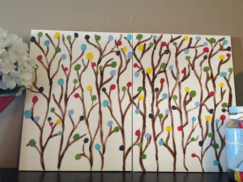 can acrylic paint be used on canvas diy artwork using canvas boards from dollarama and acrylic