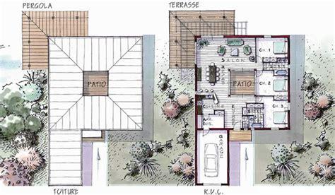 Garage Plans With Carport maison ossature bois de plain pied 127 m 178 3 chambres