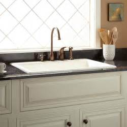 kitchen sinks drop in 33 quot palazzo cast iron drop in kitchen sink kitchen