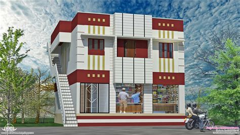 home design shops home with ground floor shops in 2000 sq kerala home