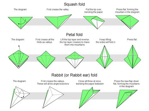 origami folds folds oragami for all