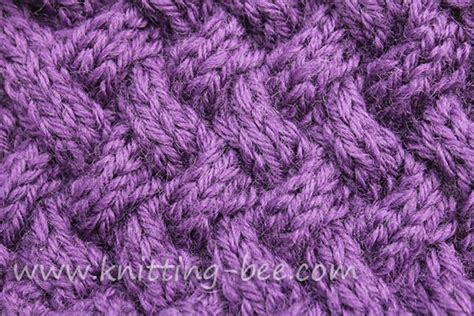 knitting diagonally medium sized diagonal basketweave cable knitting stitch