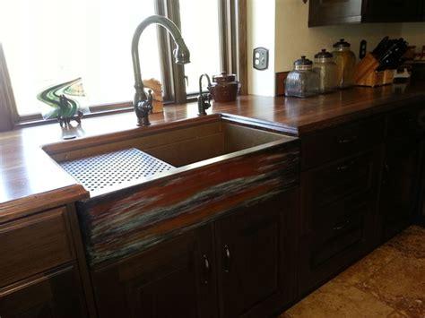 rustic kitchen sink copper farmhouse sink by rachiele rustic kitchen