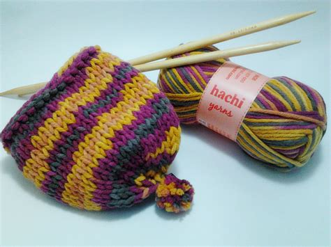 how to do a yarn in knitting hachi bulky multishades toddler hat free knitting pattern