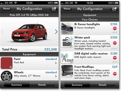 Car Apps For Simplicity by Volkswagen Uk Comes To Apple Iphone With Car Configurator