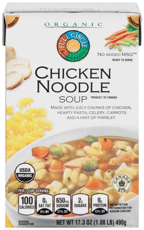 ewg s food scores canned soup chicken products