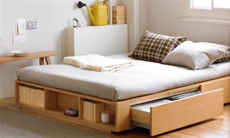 built in bed frame sleep and stow bed frames with built in storage remodelista