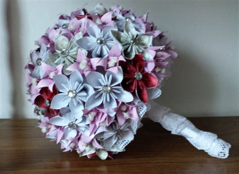 origami wedding bouquet origami wedding bouquet purple