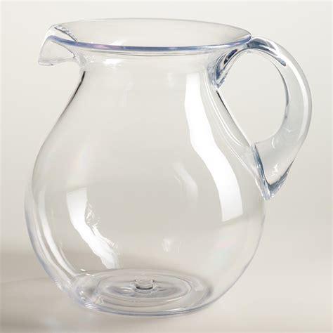 large acrylic large clear acrylic pitcher world market
