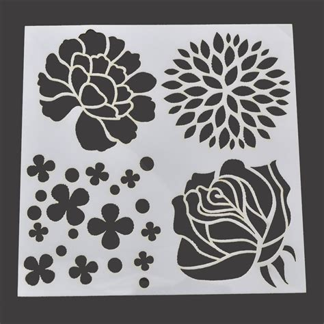 paper stencils crafts layering stencil template for diy scrapbooking photo album