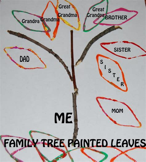 family themed crafts for my family family tree stick crafts for preschool