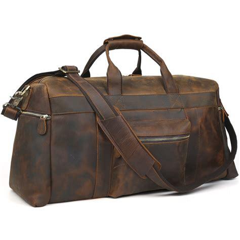 leather duffle bag mens genuine leather travel bag duffel bag large capacity