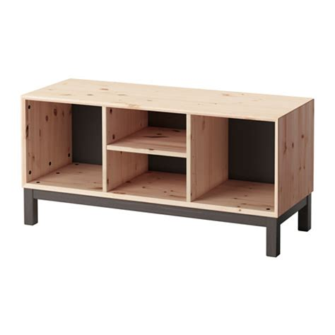 norn 196 s bench with storage compartments ikea