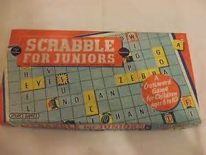 hm scrabble scrabble for juniors vintage 1959 by