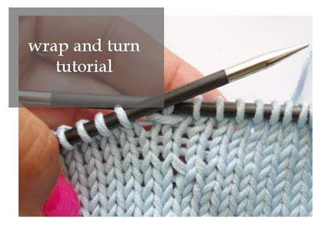 how to do a wrap and turn in knitting wrap and turn pattern duchess