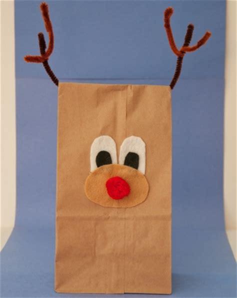 paper bag reindeer craft paper bag reindeer activity education