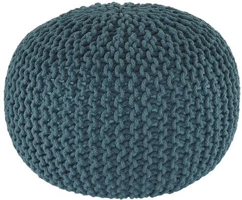 teal knitted pouf nils teal pouf from coleman furniture