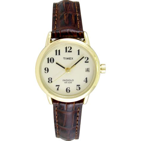 womens watches leather band timex womens easy reader brown leather timex watches wholesalers