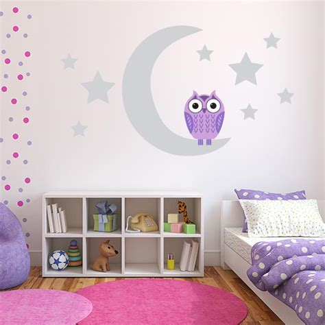 purple wall stickers purple owl wall decals owl wall stickers for nursery