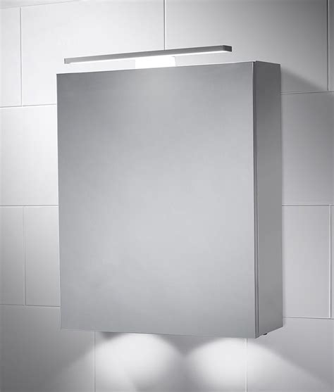 bathroom mirror cabinet with light led bathroom cabinet with mirror light 600mm x 500mm