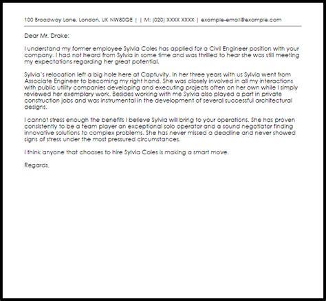 civil engineer recommendation letter livecareer