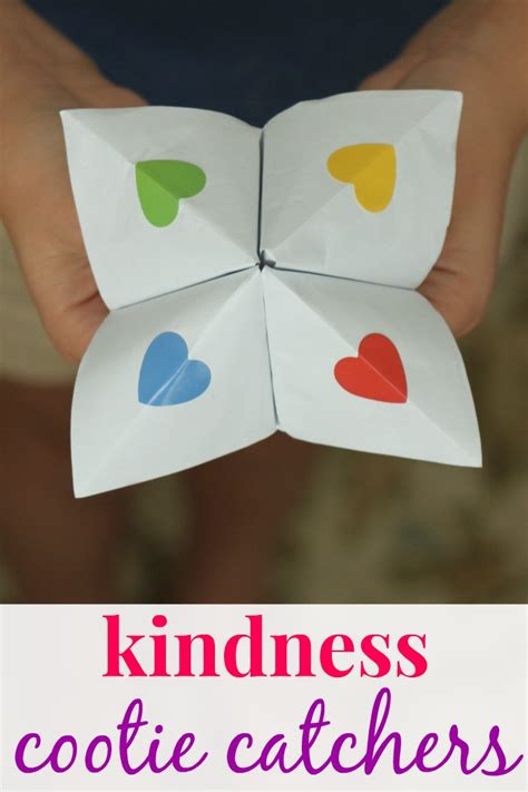 kindness crafts for how to make kindess cootie catchers coffee cups and crayons
