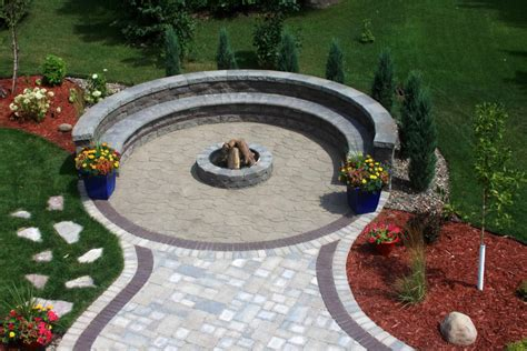 paver patio with pit circular paver patio with pit pit design ideas