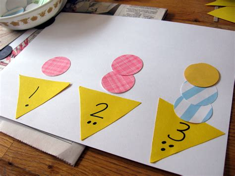 math craft projects on math for preschool the letter i math