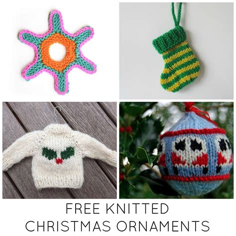 knitted ornaments patterns free 11 festive free knitted ornaments