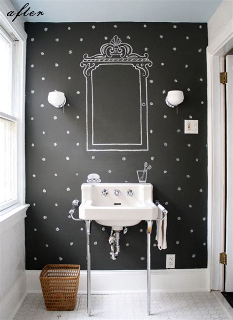 chalkboard paint on wall designing repurposing with blackboard paint