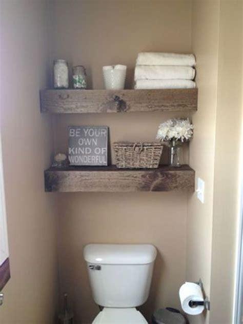 bathroom storage shelves toilet barn wood shelving above toilet in bathroom bathroom