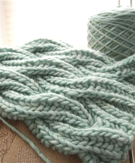 complicated knitting patterns watery wavy brioche cable scarf by kcc 138 free knit