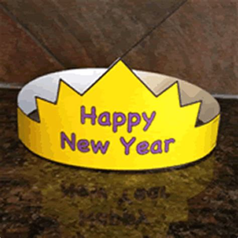 happy new year crafts for new years hat paper craft color template