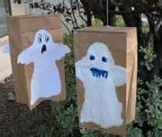 paper bag ghost craft crafts for children