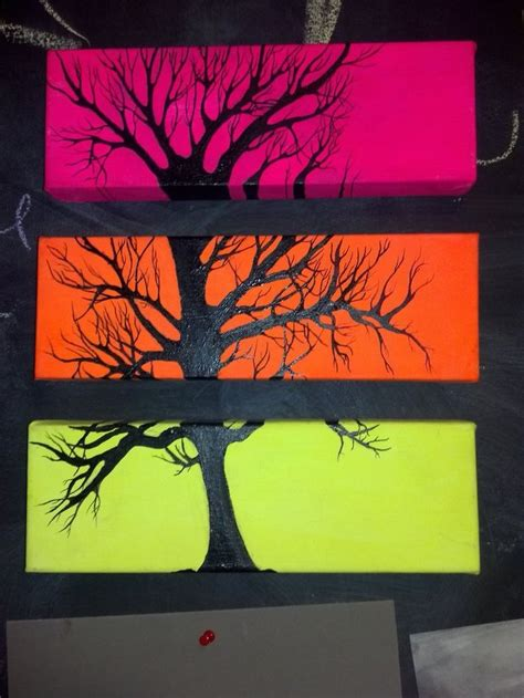 canvas tree painting ideas pixshark com images