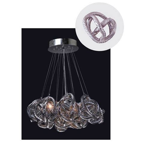 viz glass chandelier viz glass infinity chandelier with metallic silver