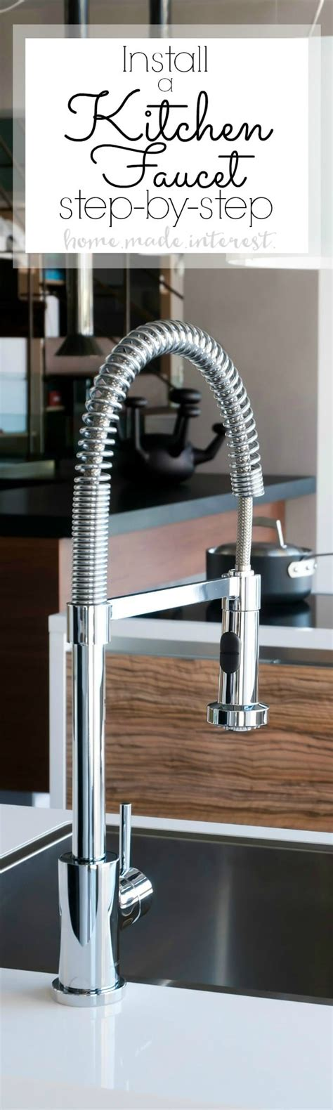 installing a kitchen faucet how to install a kitchen faucet home made interest