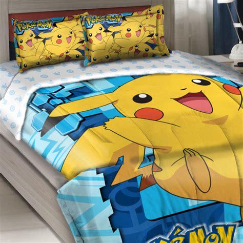 pikachu bed set comforter set big pikachu bedding