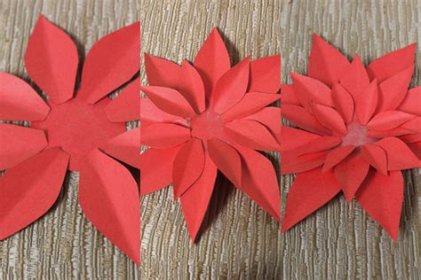 paper poinsettia craft how to make paper poinsettias petal talk