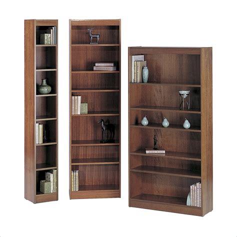 6 inch bookcase 12 inch wide 6 shelf veneer baby bookcase in mahogany 1511mhc
