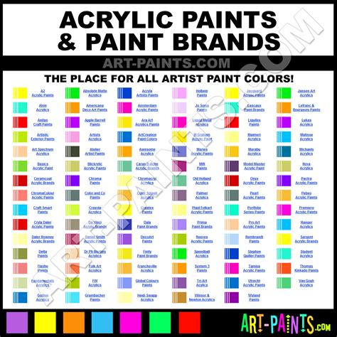 acrylic paint brands model paint conversion chart image collections chart