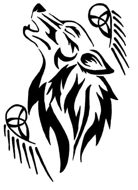 tribal wolf tattoo by eruraina on deviantart