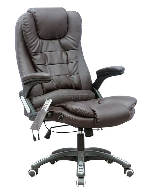 Massaging Computer Chair by Foxhunter 6 Point Office Computer Chair Luxury
