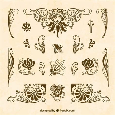 brown ornaments brown ornaments collection vector free