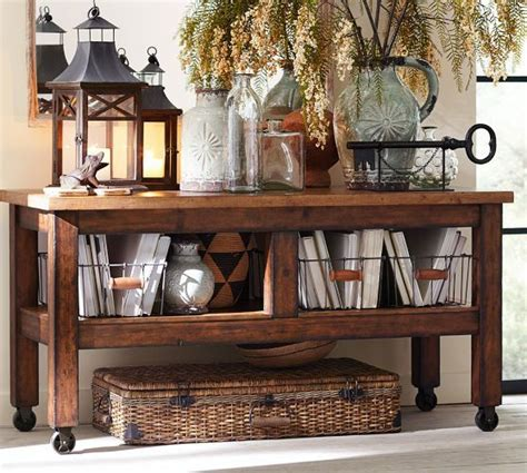 pottery barn sofa tables console table pottery barn furniture